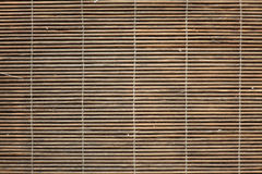 Bambusplatzmattenbeschaffenheit Stockfotos