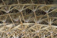 Bambusrahmen des Papierregenschirmes Lizenzfreie Stockfotos
