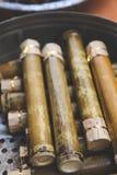 Bambusreis durch die Ureinwohner lizenzfreies stockbild