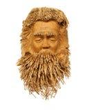 Bambusskulptur eines Bartmannes Lizenzfreies Stockfoto