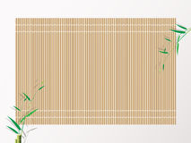 Bambussushirollenmatte Hintergrundvektorillustration Stockfoto