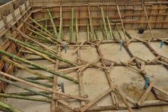 Bambuställningar i konstruktionsplats. Fotografering för Bildbyråer