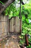 Bambustür Lizenzfreie Stockbilder