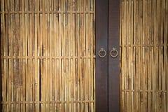 Bambustür Lizenzfreie Stockfotografie