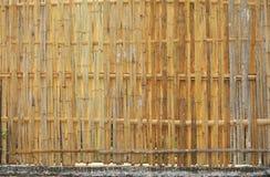 Bambustaket i landsområde. Royaltyfria Foton