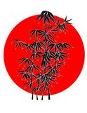 bambusun Arkivbild