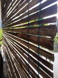 Bambusvorhang zu Hause Lizenzfreies Stockbild