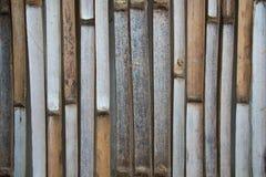 Bambuswandbeschaffenheitshintergrund Lizenzfreies Stockfoto