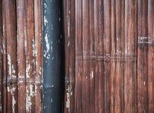Bambuswandhintergrund und -beschaffenheit Lizenzfreie Stockfotografie