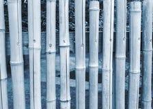 Bambuszaun mit blauem Ton Lizenzfreie Stockfotos
