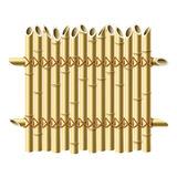 Bambuszaun. Vektor. Lizenzfreies Stockbild