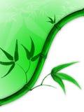 Bambuszeile Stockfoto