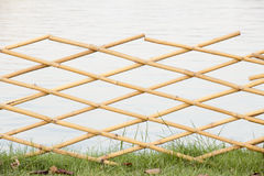 Bambuvägg Royaltyfri Fotografi