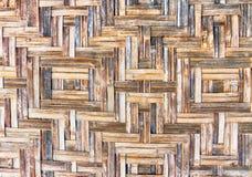Bambuväggbakgrund - textur Royaltyfri Bild