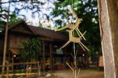 Bambuväv som dekorerar hästen Arkivbilder