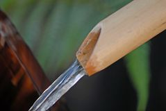 bambuvattenfall Royaltyfri Fotografi
