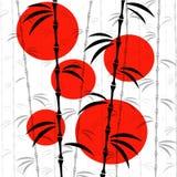Bambuvektorillustration Arkivbilder