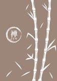 Bambuvektorillustration med religiösa Zen Symbol Arkivfoto