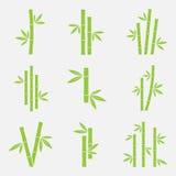 Bambuvektorsymbol vektor illustrationer