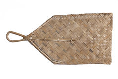 bambuventilatorhand Royaltyfri Fotografi