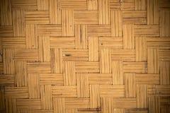 Bambuvävtextur Arkivbilder