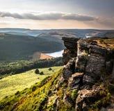Bamford Edge - Peak District Bamford. On a summers day royalty free stock image