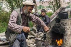 Bamiyan Afghanistan - Blacksmith Royalty Free Stock Images