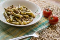 Bamya / Okra / Turkish traditional food with minced meat Stock Photography