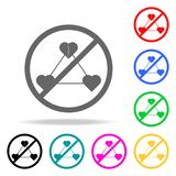 Ban on adultery icon. Elements of religion multi colored icons. Premium quality graphic design icon. Simple icon for websites, web. Design, mobile app, info Stock Photo
