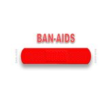 Ban Aids Campaign. I am trying to start a red band aid campaign to help raise aids awareness.  I believe that everyone should wear red band-aids to support aids Stock Photography