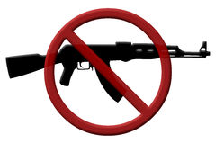 Ban on assault rifles Royalty Free Stock Images