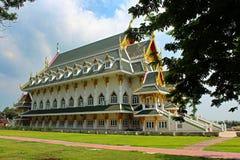 Ban Bang Sadet Court Doll Center in Ang Thong, Thailand. Ban Bang Sadet Court Doll Center. Traiditional Thai style, green roof, red shingles, triangular windows Stock Images