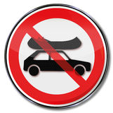 Ban of boats o the car roof Royalty Free Stock Photo