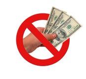 Ban on bribes Stock Photo