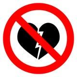 Ban broken heart Stock Image