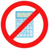 Ban calculator icon flat. Display digital and financial accounting.  Vector flat design illustration Royalty Free Stock Photos