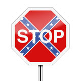 Ban on the Confederate flag Stock Image