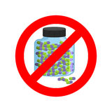 Ban doping. It is forbidden to take stimulants. Crossed-out spor Stock Image