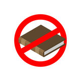 Ban education. Stop read. It is forbidden to tuition . Red prohi Royalty Free Stock Photo