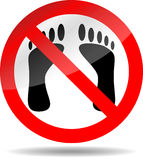 Ban foot print Royalty Free Stock Photos