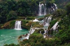 Ban Gioc - Detian falls. In Guangxi, China Stock Photos