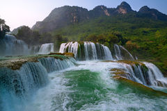 Ban Gioc Waterfall Stock Photo