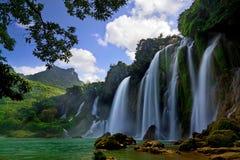 Ban Gioc Waterfall. In Trung Khanh, Cao Bang, Vietnam Stock Photo