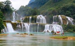 Ban Gioc Waterfall in Cao Bang, Vietnam Stockfotos