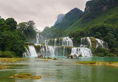 Ban Gioc Waterfall in Cao Bang, Vietnam. It's one of famous waterfalls in Vietnam Stock Photo