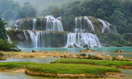 Ban Gioc Waterfall in Cao Bang, Vietnam Royalty Free Stock Photography