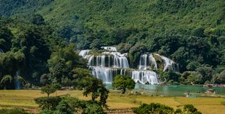Ban Gioc Waterfall - Detian waterfall. Ban Gioc Waterfall is one of Vietnam's most impressive natural sights. Located in the northeastern province of Cao Bang Royalty Free Stock Images