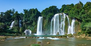 Ban Gioc Waterfall - Detian Waterfall stock photography