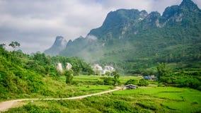 Ban Gioc Waterfall grain. Ban Gioc - Detian waterfall in Cao Bang, Vietnam Stock Photos