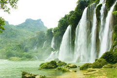 Ban Gioc Waterfall In Vietnam Royalty Free Stock Images